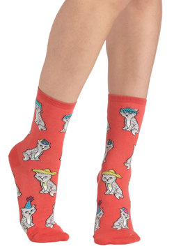 Wearable Whimsy Socks in Kittens
