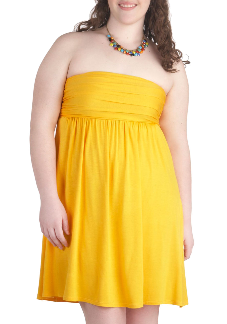 Plus size yellow sundresses
