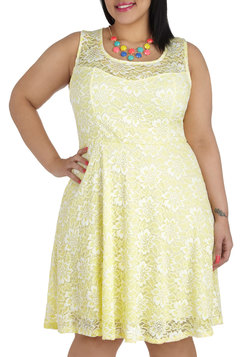 Lemon Drop By Dress in Plus Size