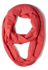 Come in Full Circle Scarf in Pink - Coral, Solid, Minimal, Travel, Cotton, Variation