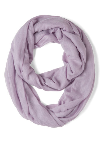 Come Full Circle Scarf in Lilac - Purple, Solid, Pastel, Minimal, Cotton, Sheer, Variation