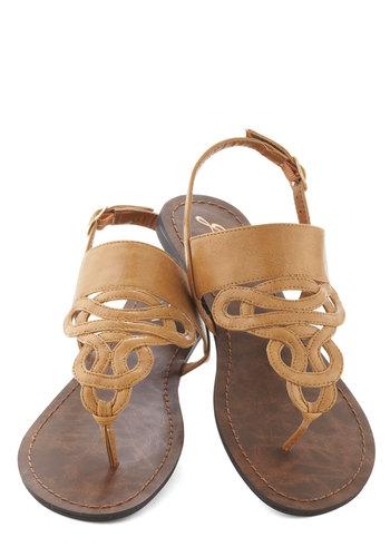 Drizzle Castle Sandal in Tan