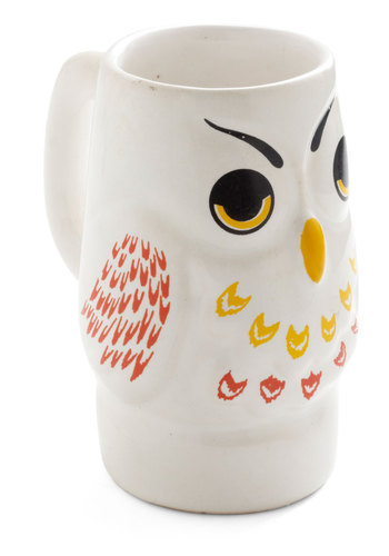 Vintage Hoot and Tie Mug