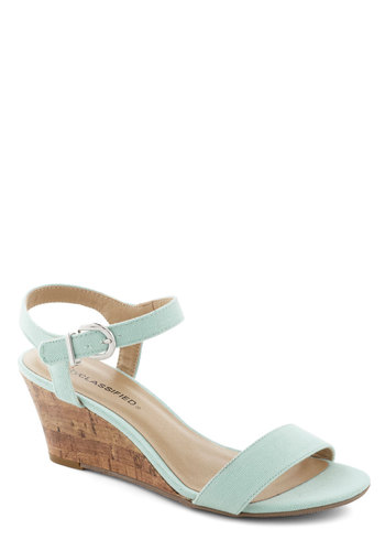 Above the Clouds Sandal - Blue, Solid, Minimal, Wedge, Mid, Daytime Party, Graduation, Pastel, Spring, Summer