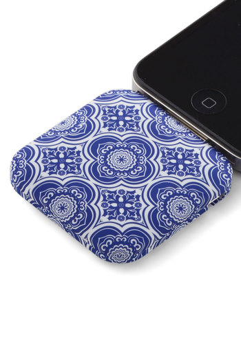 You're in Charge iPhone Battery Pack in Delft - Travel, Print, Variation, White, Blue