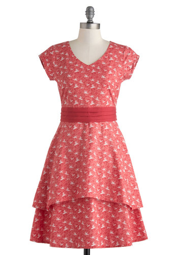 I Crane, I Saw, I Conquered Dress in Red