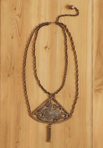 Vintage Meditation Tent Necklace