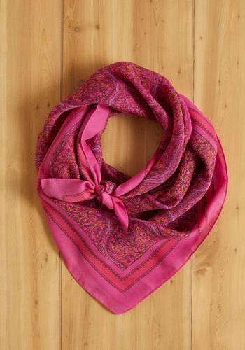 Vintage Letter to My Fuchsia Scarf