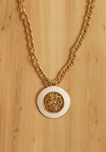 Vintage Gold Record Necklace