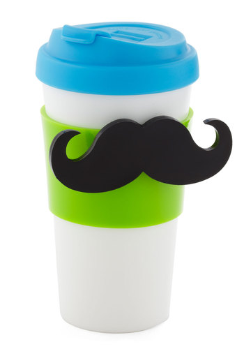 Stick with the 'Stash Magnetic Travel Mug - Multi, Yellow, Blue, Black, White, Travel, Quirky, Eco-Friendly, Good