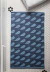 Goodie, Goodie, Raindrops Bath Mat - Cotton, Blue, Print