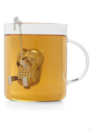 Belayed Reaction Tea Infuser by Kikkerland - Silver, Solid, Eco-Friendly, Good