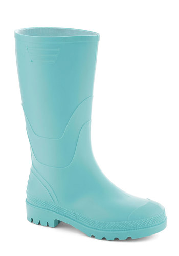 The Fun Never Stomps Boot by Juju - Mint, Solid, Pastel, International Designer, Low, Casual, Eco-Friendly, Spring