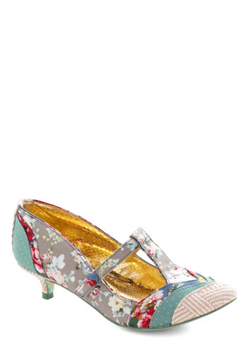 By the Bunch Heel by Irregular Choice - Floral, Mid, Multi, Print, Party, Daytime Party, Vintage Inspired, Spring