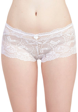 Delight in Donning Undies in White