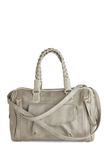 Thunderhead of the Pack Bag - Grey, Solid, Braided, Pockets, Faux Leather