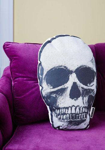 Rest Your Head Pillow - White, Black, Dorm Decor, Better, Halloween, Guys, Skulls, Quirky
