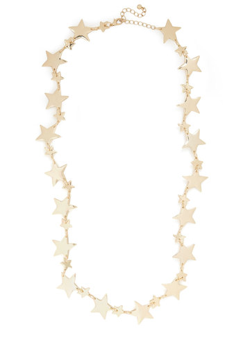 Star Spreading the News Necklace - Gold, Solid, Pinup