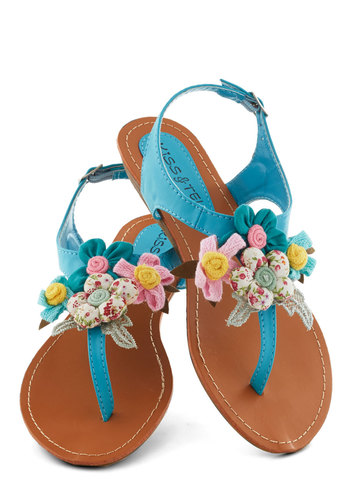 Crafty Afternoon Sandal in Teal