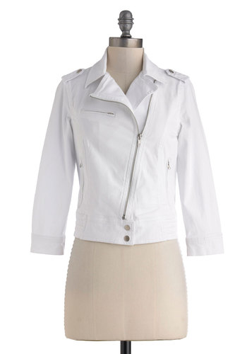 Zip Down Memory Lane Jacket in White