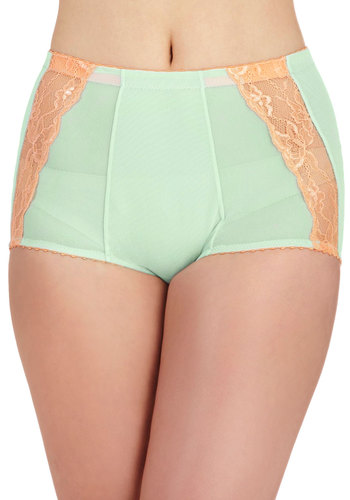 Fruit and Holler Undies - Solid, Lace, Pinup, 50s, Mint, Coral, Vintage Inspired, 40s, Pastel, High Waist, Sheer