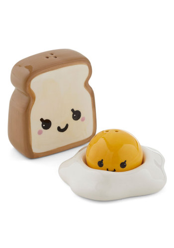 A La Cute Shaker Set by One Hundred 80 Degrees - Multi, Yellow, Brown, White, Kawaii, Quirky, Press Placement, Top Rated