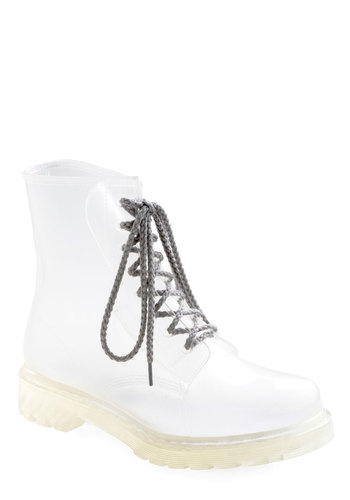 Clear and Pleasant Ranger Boot - White, Military, Lace Up, Low, Solid, Casual, Vintage Inspired, 90s
