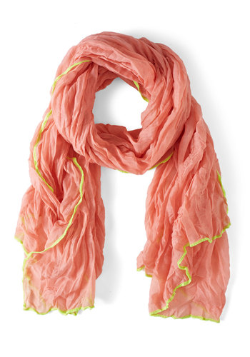 My Brightest Moment Scarf in Pink - Pink, Yellow, Fairytale, Spring
