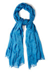 Speckled Surprise Scarf in Blue - Blue, Yellow, Polka Dots, Variation