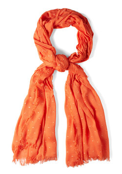 Speckled Surprise Scarf in Orange