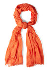 Speckled Surprise Scarf in Orange - Orange, Yellow, Polka Dots, Variation