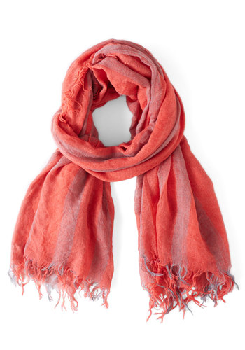 The Glow of Glass Scarf - Red, Stripes
