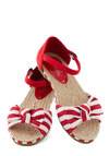 Poetry and Pose Flat - Flat, Red, White, Stripes, Bows, Beach/Resort, Nautical, Summer, Casual, International Designer