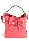 Betsey Johnson Look at Me Now Bag by Betsey Johnson - Red, Bows, Studs, Luxe, Statement, Urban, Faux Leather