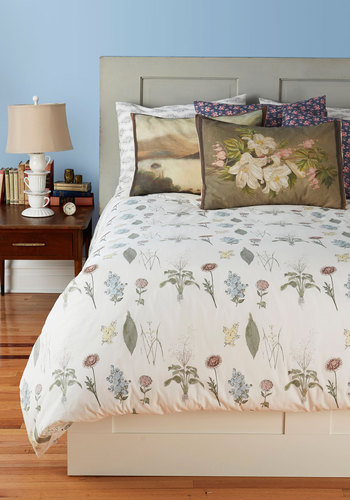 Blanketed in Blossoms Duvet Cover in Twin - Multi, Multi, Floral, Dorm Decor, Cotton, Exclusives, Best
