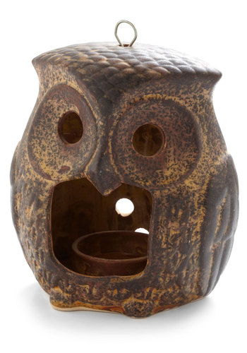 Vintage Nightly Owl Candle Holder