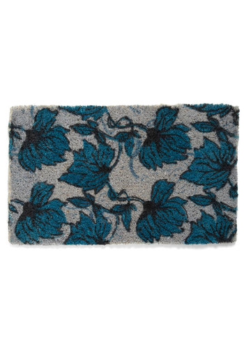 Jade Vine All Mine Doormat - Blue, Floral, Grey