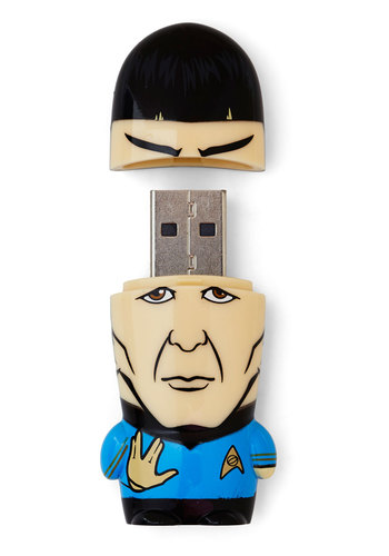 Spock and Roll USB Flash Drive - Blue, Dorm Decor, Variation, Good