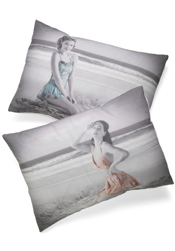 Girly to Bed Pillowcase Set - Multi, Multi, Pinup, Dorm Decor, Cotton, Exclusives