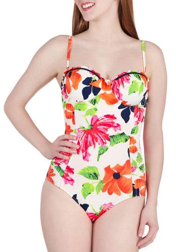 Seaside Resort One Piece Swimsuit