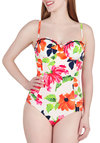 Seaside Resort One Piece by Seafolly - Multi, Floral, Trim, Ruching, Beach/Resort, International Designer, Summer