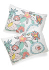 Dusk to Drawn Pillowcase Set - Multi, Multi, Floral, Dorm Decor, Cotton, Exclusives, Better