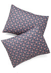 Bed of Rosettes Pillowcase Set - Blue, Blue, Floral, Dorm Decor, Cotton, Mid-Century, Exclusives, Better