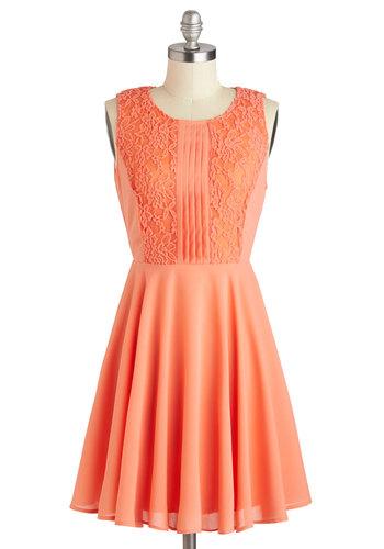 Apricot Dahlia Dress