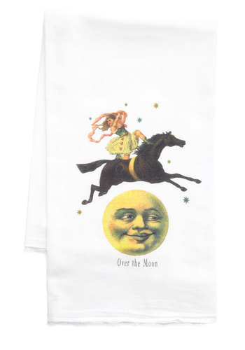 Lunar the Better Tea Towel - Cotton, Multi, Good