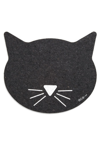 Purr Perfection Pet Place Mat - Black, Print with Animals, Cats, Good, Under $20