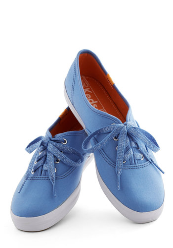 Sidewalk of Fame Sneaker in Blue by Keds - Flat, Blue, Casual, Vintage Inspired, Spring