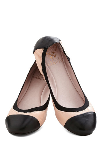 Perhaps the Piano Flat - Tan, Black, Casual, Colorblocking, Flat, Leather, Solid, Work