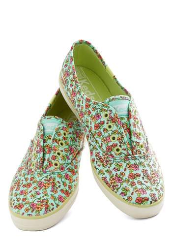Love Is in the Errand Sneaker by Keds - Multi, Floral, Casual, Spring