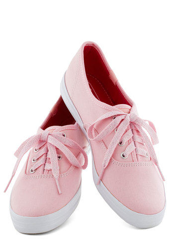 Sidewalk of Fame Sneaker in Pink - Pink, Casual, Vintage Inspired, Spring, Flat, Basic